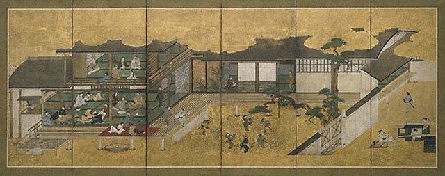 An image of Merrymaking in the Yoshiwara