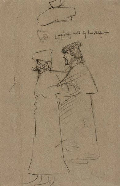 An image of Longstaff all by himself by Sir William Rothenstein