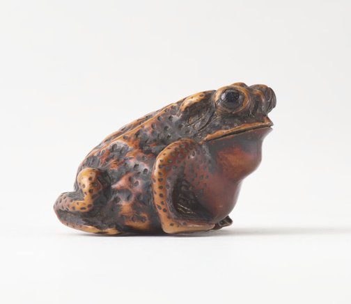 An image of Netsuke in the form of a toad by