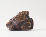 Alternate image of Netsuke in the form of a toad by