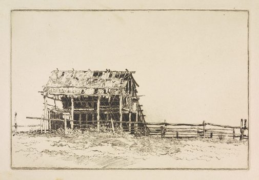 An image of The sunlit barn by Sydney Ure Smith