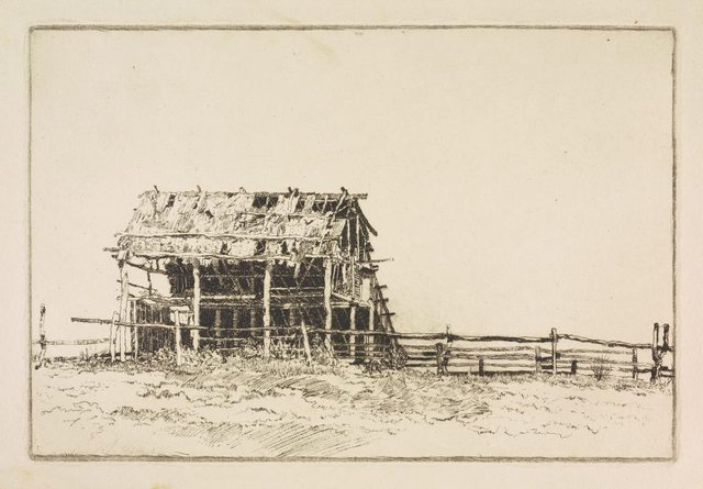 An image of The sunlit barn