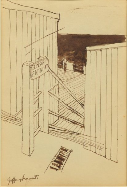 An image of Study for 'Sunstrip baths, Coogee' 1961-62 by Jeffrey Smart
