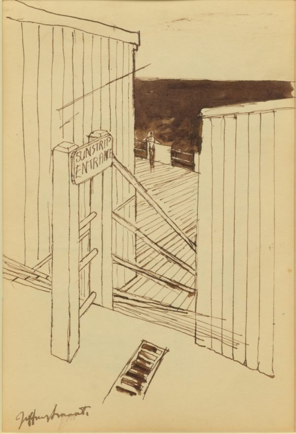 An image of Study for 'Sunstrip baths, Coogee' 1961-62