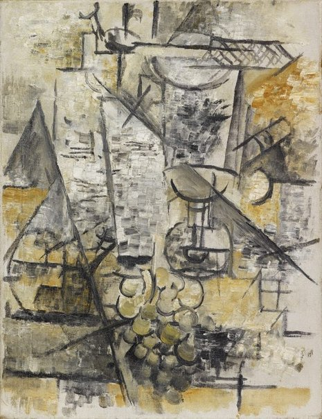 An image of Glass of absinthe by Georges Braque