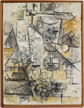Alternate image of Glass of absinthe by Georges Braque