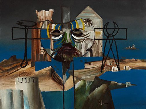 An image of Italian crucifix by Sidney Nolan