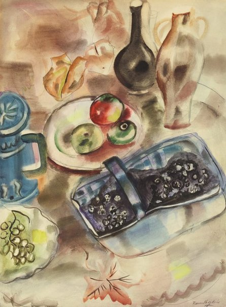 An image of Blackberry and apple by Frances Hodgkins