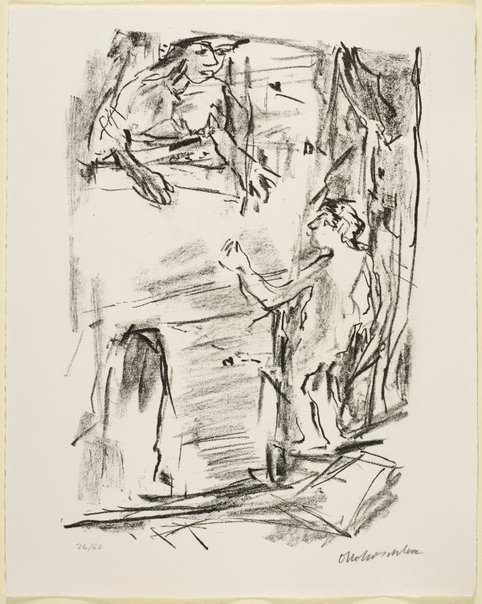 An image of 12. Saul seeketh to kill David by Oskar Kokoschka