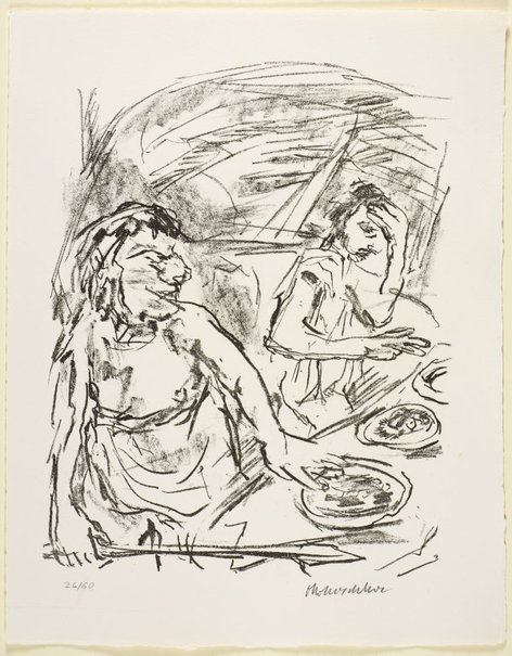 An image of 14. Saul's anger against Jonathan by Oskar Kokoschka