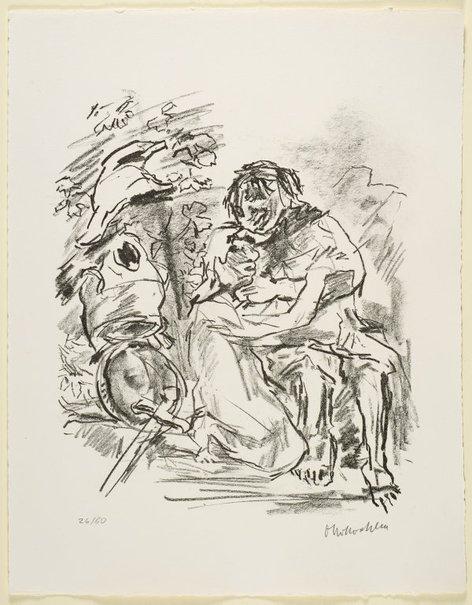 An image of 15. Jonathan taketh leave of David by Oskar Kokoschka