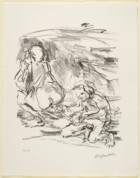 An image of 17. David spareth Saul's life by Oskar Kokoschka
