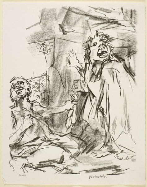 An image of 18. Is this thy voice my son David? by Oskar Kokoschka