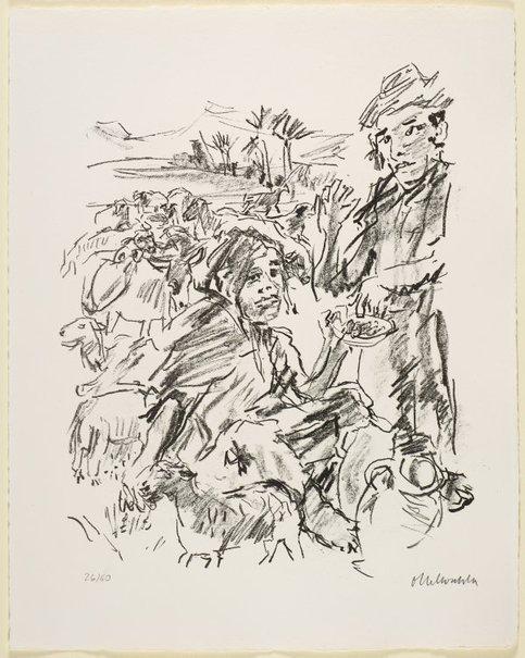 An image of 19. David and Abigail by Oskar Kokoschka