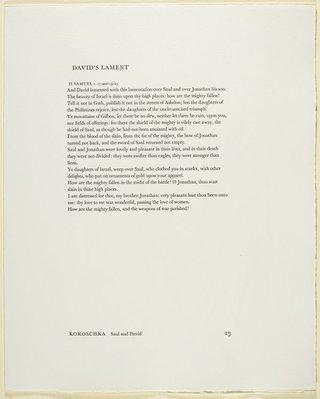 Alternate image of 25. David's lament by Oskar Kokoschka