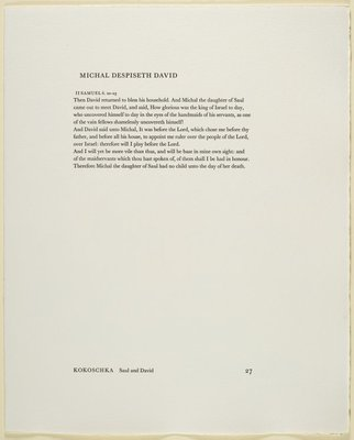 Alternate image of 27. Michal despiseth David by Oskar Kokoschka