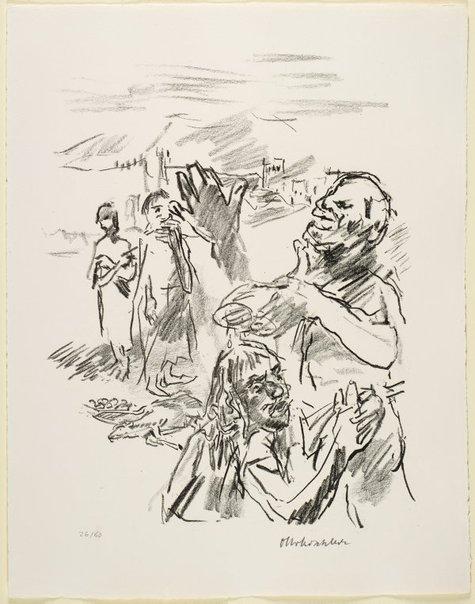 An image of 3. Samuel anointeth Saul by Oskar Kokoschka