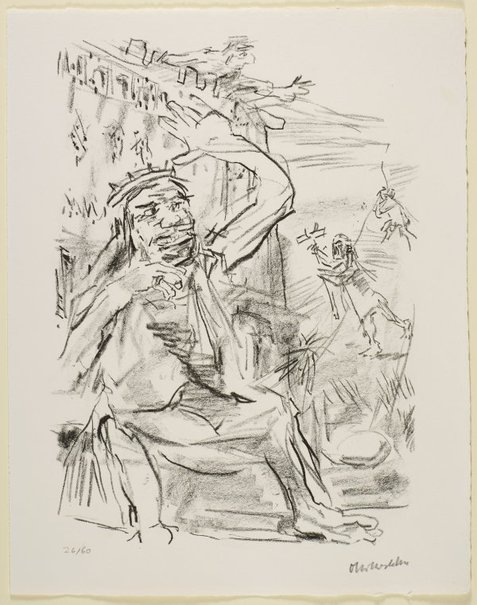 An image of 37. The tidings of Absalom's death by Oskar Kokoschka