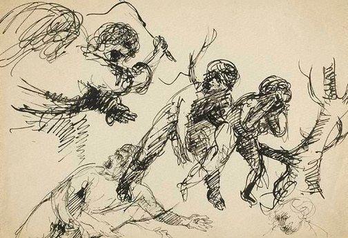 An image of (The expulsion) by Arthur Boyd