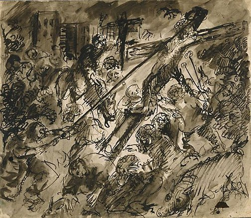 An image of Study for 'Crucifixion' by Arthur Boyd