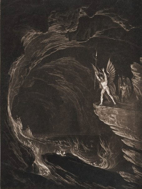 An image of Satan arousing the fallen angels by John Martin