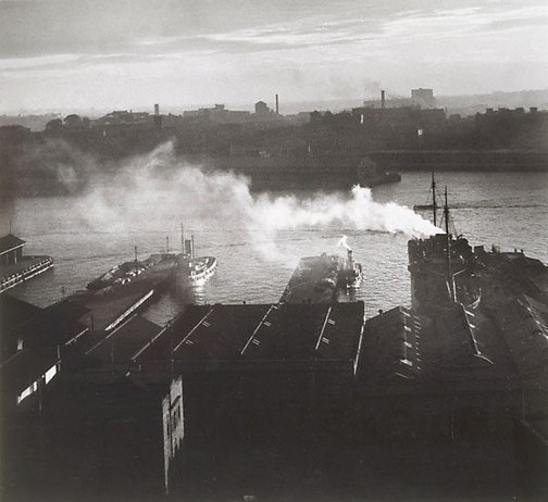 An image of Darling Harbour by Olive Cotton