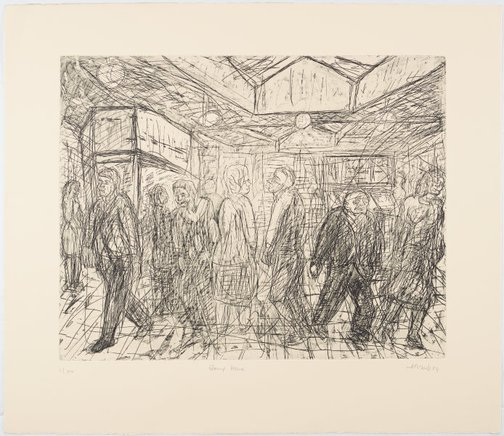 An image of Going home by Leon Kossoff