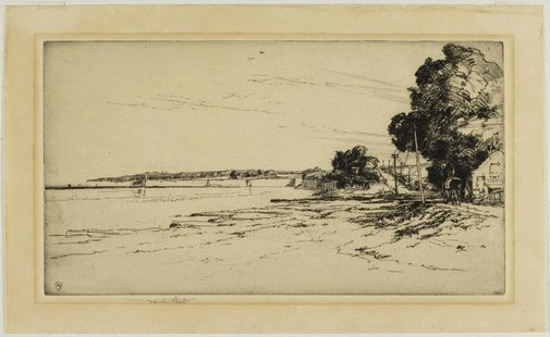 An image of The south coast road by Sir Frank Short