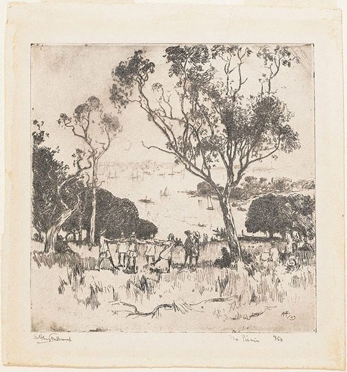 An image of The picnic by A Henry Fullwood