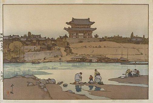An image of Daido gate (Korea) by Yoshida Hiroshi