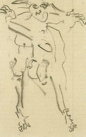 An image of Untitled D99 by Willem de Kooning