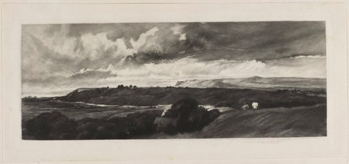 An image of Wensley Dale (A Yorkshire Road) by Sir Frank Short, after Peter De Wint