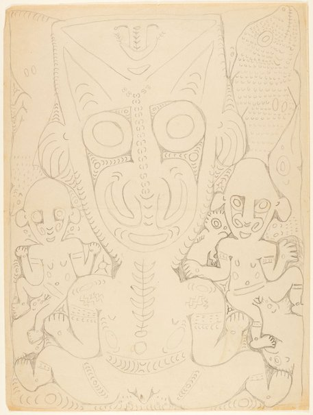 An image of Ancestral and mythical figures by Simon Nowep