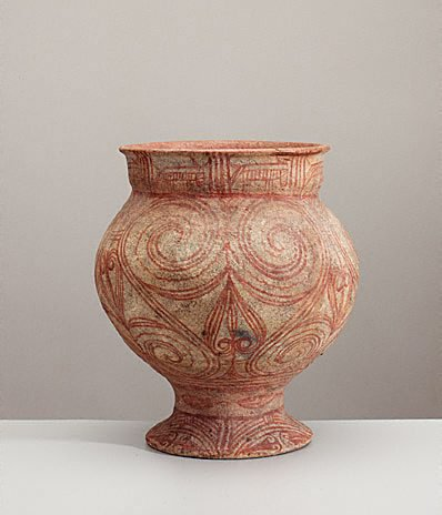 An image of Pedestal bowl with painted decoration