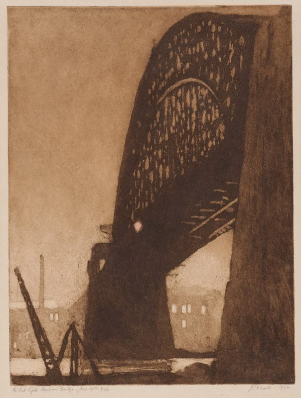An image of The red light, Harbour Bridge, June 1931