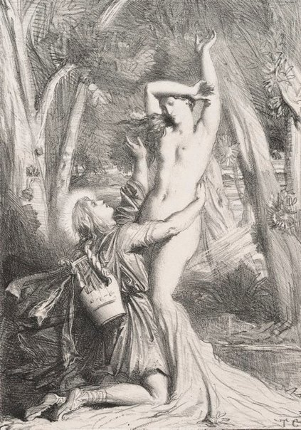 An image of Apollo and Daphne by Théodore Chassériau