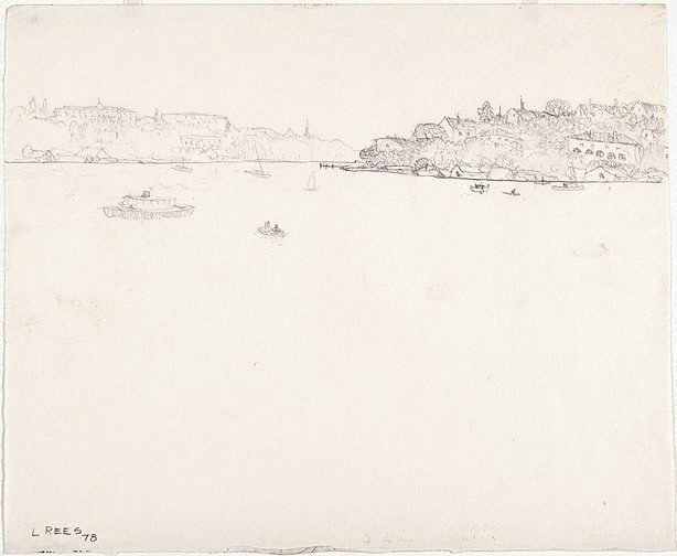 An image of recto: Drawing for 'The Lane Cove River' verso: [wax impressions]