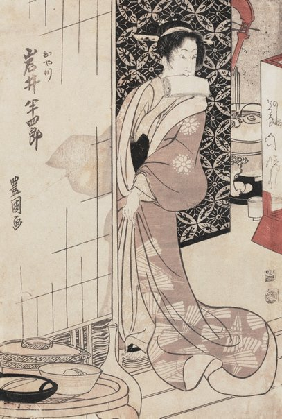 An image of Actor Iwai Hanshirō as Oyatsu by Utagawa Toyokuni