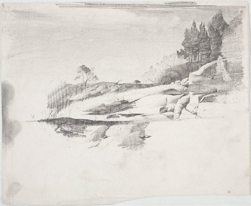 An image of Rocky shore by Lloyd Rees