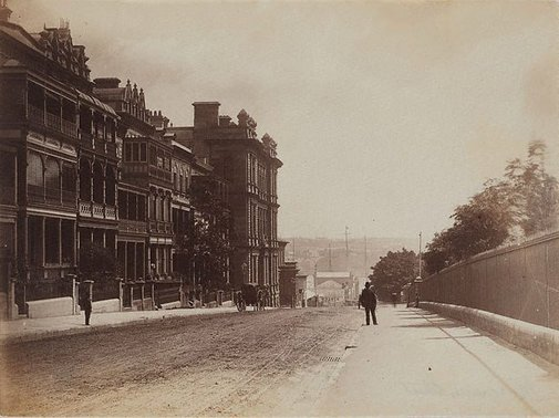 An image of Macquarie Street by John Paine