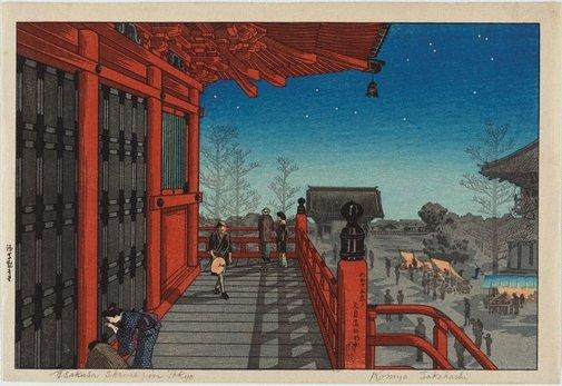 An image of Asakusa shrine in Tokyo by TAKAHASHI Hiroaki