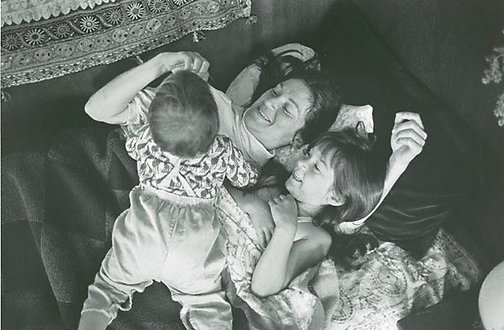 An image of Betsy, Krista and Theo by Christine Godden