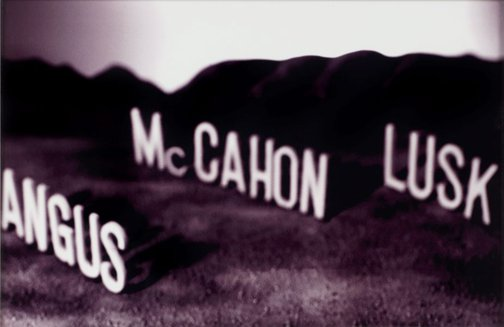 An image of Angus McCahon Lusk by Ronnie van Hout