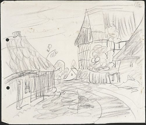 An image of (Village street in Thuringia) by Lyonel Feininger