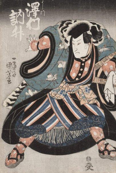 An image of Actor Sawamura Tosshō by Utagawa Kuniyoshi