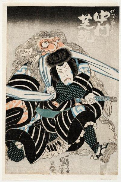 An image of Actor Nakamura Shikan II by Utagawa KUNIYOSHI