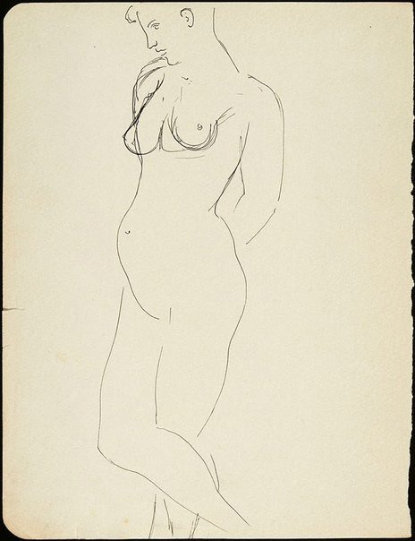 An image of Female nude by David Strachan