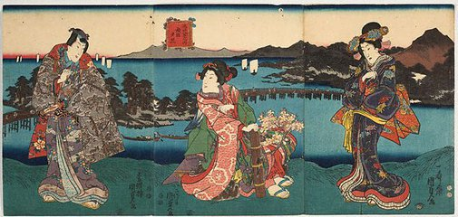 An image of Evening glow at Seta by Utagawa Kunisada II