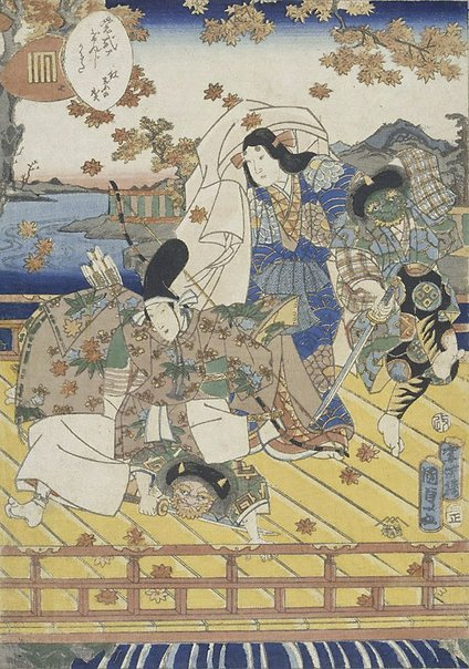 An image of Beneath the autumn leaves (Chapter 7) by Utagawa Kunisada II