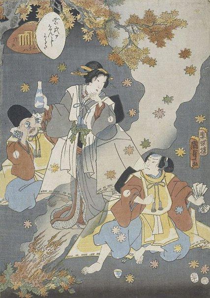 An image of The bell cricket (Chapter 38) by Utagawa Kunisada II
